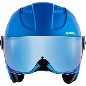 Alpina Carat LE Visor HM Casco Niños, blue-neon-yellow matt